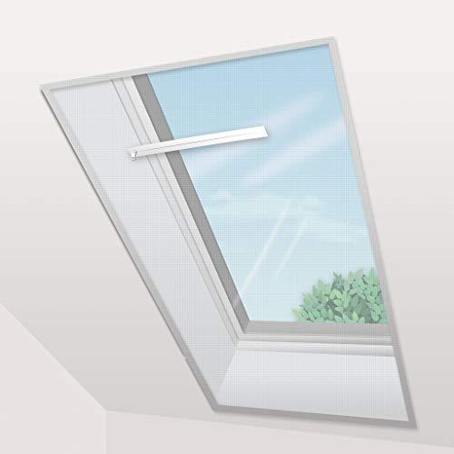 Confortex Fliegengitter für Dachfenster, 150 x 180 cm, Weiß, 2 Stück