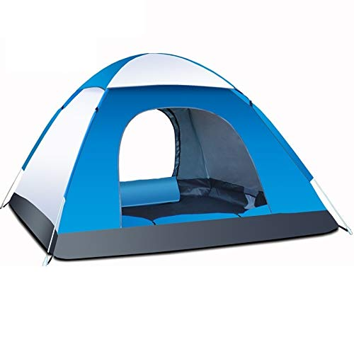 Pop-up tent camping tent waterproof tent Outdoor Camping Tents Portable Waterproof Automatic Tent Anti-UV 3/4Person Folding Pop Up Open Sun Shade Tent (Color : Sky Blue)