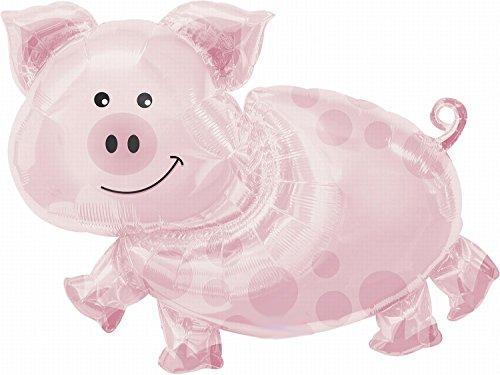 Anagram 1106202 fête et décoration-super ballon cochon env. 89 x 64 cm