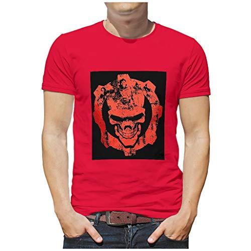 T-Shirt für Jugendliche und Erwachsene aus schwerer Baumwolle mit Rundhalsausschnitt Gr. M, Rot1