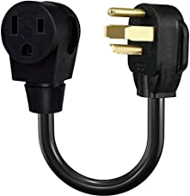 BOEEMI Welder to Dryer Outlet Adapter, Run 3 Prong Welder(6-50R) from 4-Prong Dryer Plug(14-30P), NEMA 14-30P Male to 6-50R Female 18in Welding Cable Cord Adaptor, 30A 250V