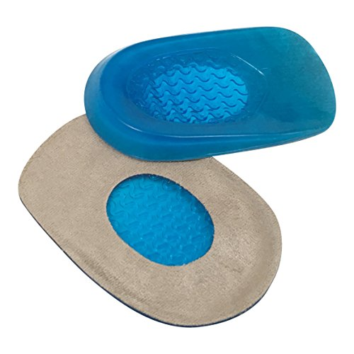 Hyjinx Gel Heel Cups (Pair) - Best Shoe Inserts for Heel Spurs - Massaging Cushions Provide Foot Relief - Arch Support & Relieving Sore Plantar Fascia Pain - Shock Absorbing for Running