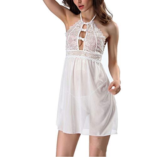 Sexy Negligee Frauen Nachtkleid Babydoll Spitze Nachthemd Transparente Sleepwear...