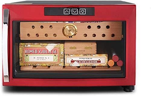 Rotwein Thermostat Thermostat Weinkühler konstante Temperatur und Feuchtigkeit Cigar Kabinett Kleiner Kühlschrank Mini Moisturizing Ice Bar Lebensmittelkonservierung (Farbe: Braun, Größe: 41 * 53 * 27