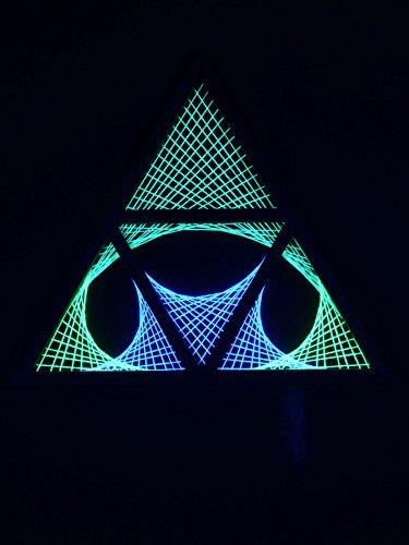 PSYWORK Little Star Triangle - Guirnalda de luz Negra (65 cm)