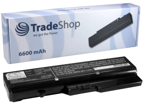 Trade-Shop Premium Laptop Battery 6600 mAh for IBM Lenovo IdeaPad G780 V570 B475 G56 K47G B470 B475 B570 G460 G465 G470 G475 G560 G565 G570 G575 G700 V360 V370 V470 V570 Z370 Z460 Z465 Z470 Z475 Z475