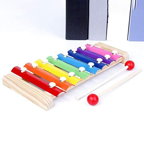 Yannn Handklopf-Xylophon für Kinder, Percussion-Holz-Xylophon für pädagogisches und vorschulisches Lernen Musikaufklärung für Kleinkinder Kinder