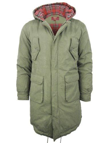 Manteau Merc London Queue Poisson Style Parka M51 Homme 'tobias' Combat Vert (Vert de Combat) S