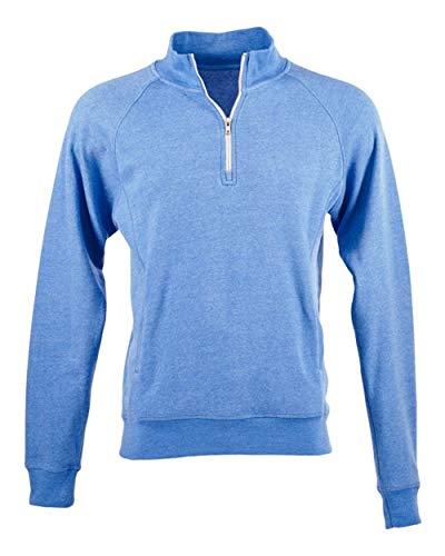 J America Adult Triblend Fleece Quarter-Zip XL COOL RYL TRIBLD