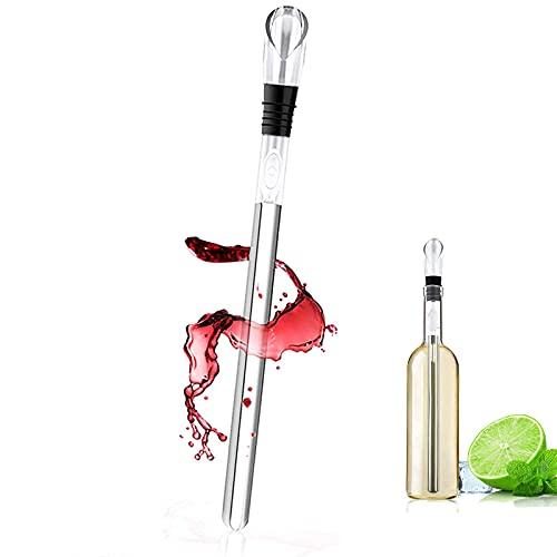 Yajun Ice Wine Chiller 3 in 1 Raffreddatore per Birra in Acciaio Inossidabile Aeratore e Versatore a Tenuta Stagna Stick per Bottiglie Bar Sicuro Asta di Raffreddamento per Vino