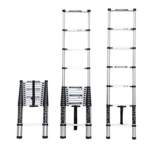 Extensibles Escalera de extensión extensible telescópica EN131 MAX Cargue 150 KG Escaleras de ático plegables para herramientas eléctricas, de jardín y manuales (Size : 3.0m(9.8ft))