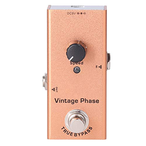 Pedal de Efectos de bajo de Guitarra DC 9V JDF-6 Pedal de Efecto de Guitarra eléctrica de Fase Vintage Single Mini Phaser
