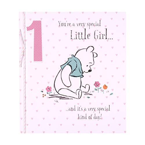 Hallmark Geburtstagskarte zum 1. Geburtstag für kleine Mädchen mit Winnie-The-Pooh-Motiv