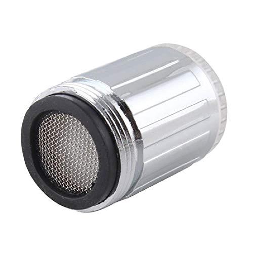 Boquilla de grifo de luz LED RGB, 7 colores, cambio de temperatura intermitente, aireador de grifo, ahorro de agua, accesorios de baño de cocina