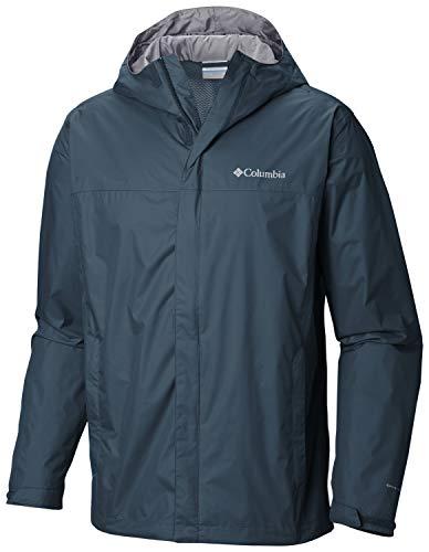 Columbia Watertight II Jacket Chaqueta para Lluvia, Azul (Petrol Blue), L Alto para Hombre