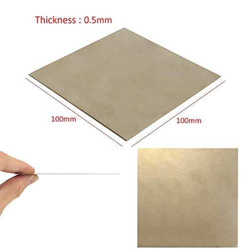 0,5 mm dicke Titanplatte, Titanplatte, 100 mm x 100 mm x 0,5 mm, für Metallbearbeitung