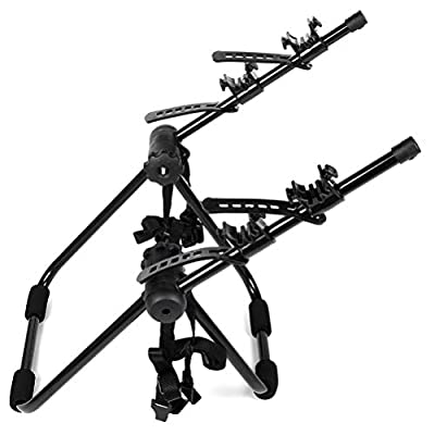 ZENITHIKE Trunk Mount Rack Car SUV Cargo Carrier Bike 2 Bike Trunk Rack - Max Load 35 lbs