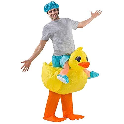 HIZLJJ Anatra Gonfiabile Costume Gonfiabile Rider Costume Yellow Duck Funny Animal Suit Monte di Halloween del Vestito Operato Cosplay for Adulti Costume Vampiress