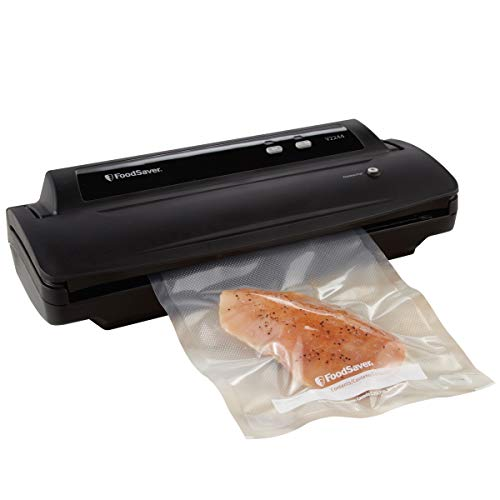 Foodsaver FSFSSL2244-000 V2244 Machine for Food Preservation with Bags and Rolls Starter Kit | #1 Vacuum Sealer System | Compact & Easy Clean | UL Safe, Single, Black