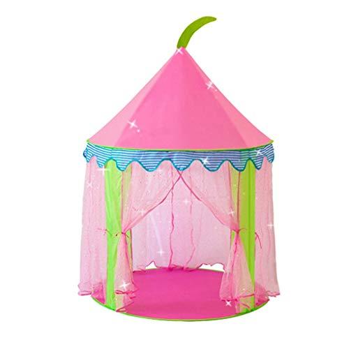 Yurt Play TEEPEE, Tienda de Wigwam transpirable para el juego de niños, Tienda de la siesta del bebé para la sala de estar Tipi Playhouse Girls plegable zhihao ( Color : Pink , Size : 100*100*135CM )