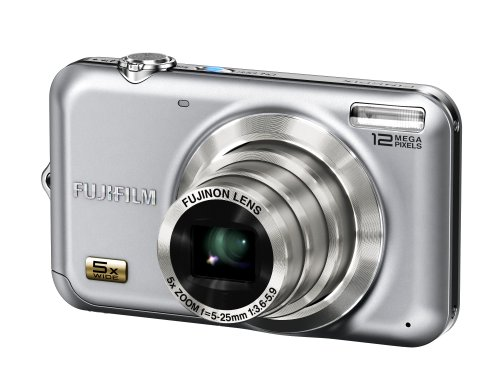 Fujifilm Finepix JX200 Digitalkamera (12 Megapixel, 5-fach opt.Zoom, 6,9 cm Display) silber