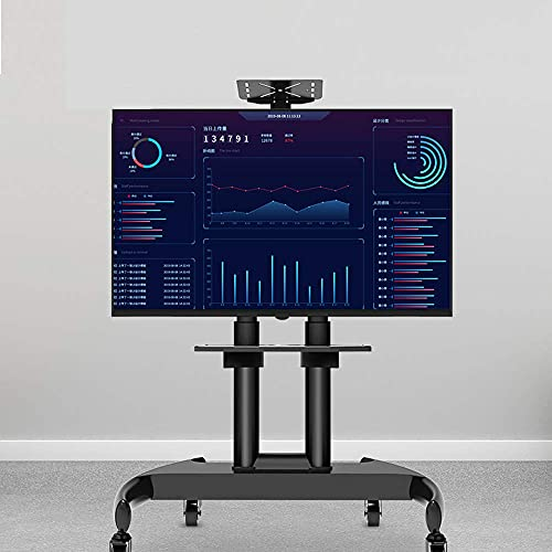 GAXQFEI Xin Xin Piso Simple Gabinete de Televisión Tv Mueble de Televisión Universal Tv Soporte Soporte Monitoreo Monitoreo Carrito Ajustable Pantalla de Altura Adecuada para 43,50,55,65,70 Pulgadas