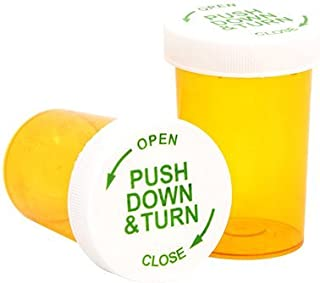 Prescription Pharmacy Vials with Safety Cap, 20 Dram, Amber, 25/Pack
