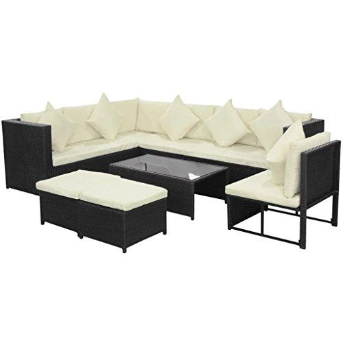 cangzhoushopping - Juego de sofá de jardín (29 Piezas, Resina Trenzada, Muebles de jardín, Muebles de Exterior, Muebles de jardín, Conjunto de Muebles de jardín