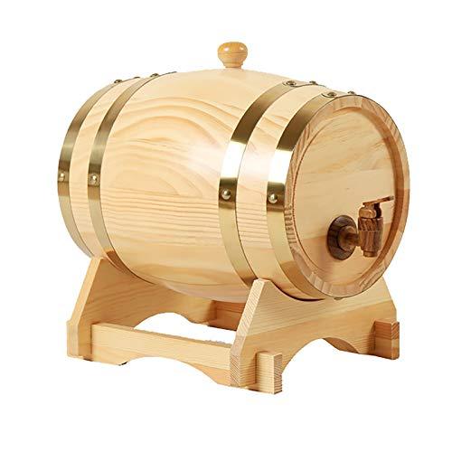 MEETGG Mini barril de cerveza multifunción, creatividad de madera, horizontal para almacenamiento, decoración