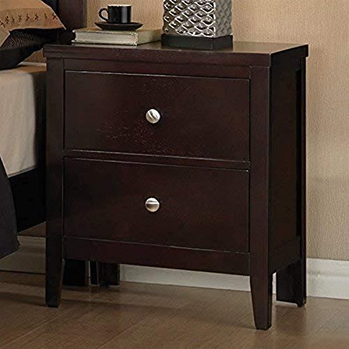 Coaster Home Furnishings Carlton 2-Drawer Nightstand Cappuccino