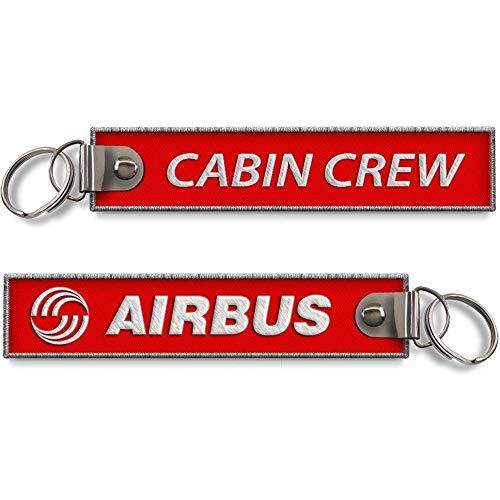 koolkrew Airbus Cabin Crew - Llavero bordado, color rojo