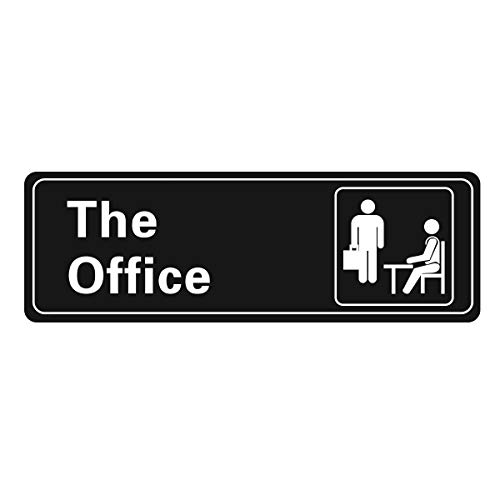 The Office Self Adhesive Sign, 9 X 3 Inch