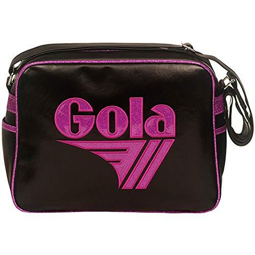 Gola Classics, Redford Glitter, Borsa Unisex Adulto CUB661 (Black/Berry, 37 x 12 x 25 cm)
