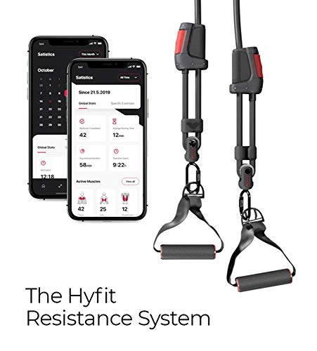 Hyfit Gear 1 Smart Fitness Training System - Smart Resistance Band + HyfitGear Fitness App - Anti-Snap, Adjustable Exercise Bands for Working Out - Track Real-Time Stats & Access 200+ Guided Workouts