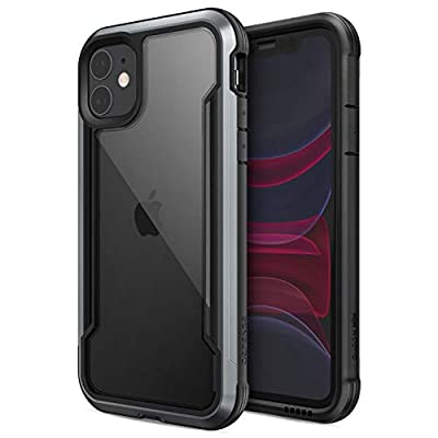 Defense Shield, iPhone 11 Case - Military Grade Drop Tested, Anodized Aluminum, TPU, and Polycarbonate Protective Case for Apple iPhone 11, (Black)