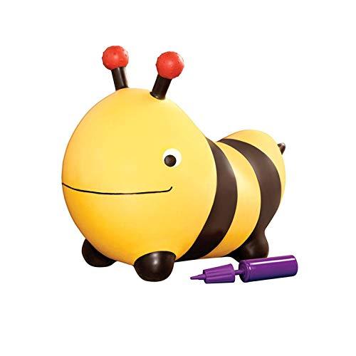 Tolva de Animales Hinchable, Linda Forma de Bumblebee bóveda, Puede Montar un Juguete rebotador, Hecho de Material de PVC con Bombeo para niños, niñas, Amarillo