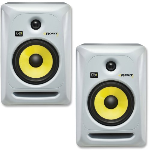 KRK RP6G3W-NA Rokit 6 Generation 3 Powered Studio Monitor - White - Pair