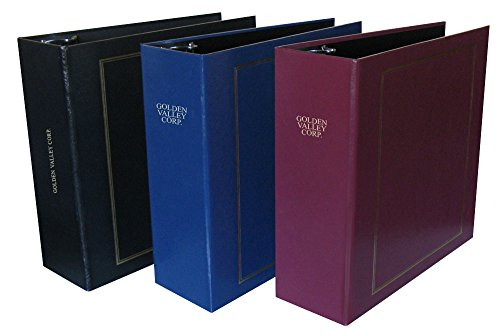 Custom Personalized 3-Ring Binder - Minute Book, Portfolio, Organizer, Planner - 3 Sizes and Multiple Colors Available (3' Black)