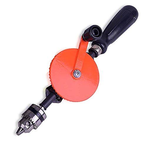 NUZAMAS Taladro manual de piñón doble de 0,6 a 10 mm de capacidad, taladro...