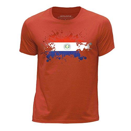 Stuff4® jongens ronde hals T-shirt/paraplu/vlag Splat Edad de 12-14 (152-164cm) Azul