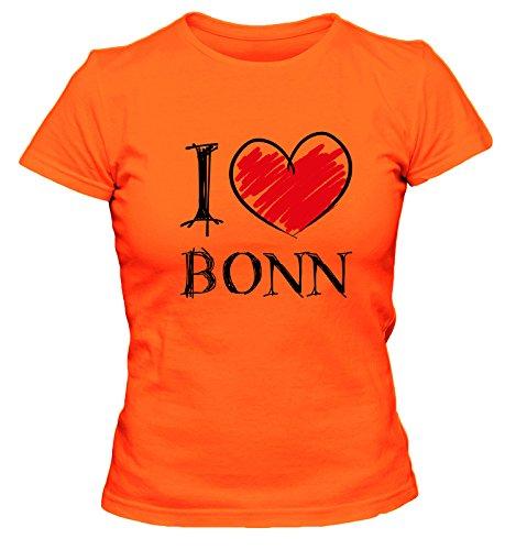 I Love Bochum Fun Damen T-Shirt, Größe:L;Farbe:orange