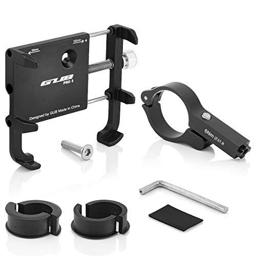 GUB PRO3 Universal Bike Fahrrad Motorrad Halterung für Handy, Smartphone, Navi usw. Schwarz - 6