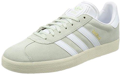 Adidas Herren Gazelle Sneaker , Grün (Linen Green/footwear White/gold Metallic) , 39 1/3 EU