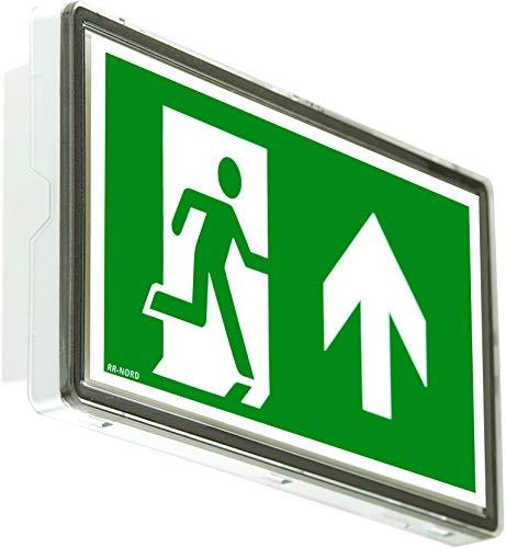 Notleuchte LED IP65 Notbeleuchtung Rettungszeichenleuchte Fluchtwegleuchte Notlicht Brandschutzzeichen Rettungszeichen (Pfeil nach rechts unten)