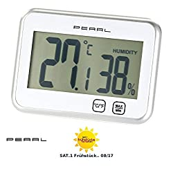 PEARL digital thermometer and hygrometer with touch control