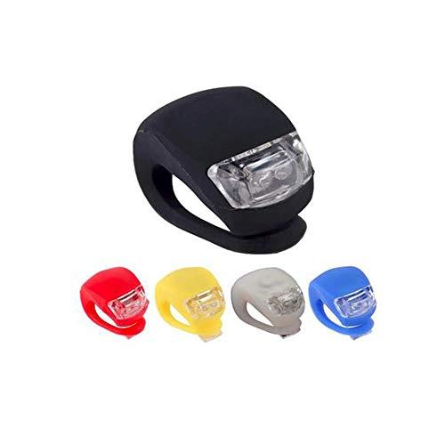 Fahrradlicht Silikon LED Kopf vorne und hinten Fahrradlicht Wasserdichtes Fahrlicht mit Batterie Fahrradzubehör Fahrradlicht