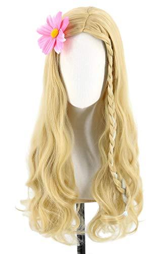 Chtom Peluca larga de princesa para niños y niñas, rubia Ombre peluca Cosplay Barbie