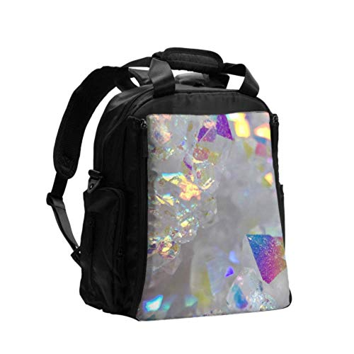 Diaper Bag Tote Angel Aura Opal Aura Aura Quartz Cluster Druzy Custom Diaper Bag Multifunction Travel Backpack with Diaper Changing Pad for Baby Care