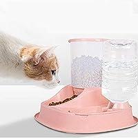 大容量自動フィーダー自動水ディスペンサーキャットボウル犬ボウル非カード食品ペットデラックスバージョン用品 子犬 WUTONG (Color : Pink 39 × 36 × 31 Cm)