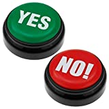 JuniorToys el Buzzer en Caja de Regalo - Muchos Diferentes Sonidos - Push The Button - Juego de 2